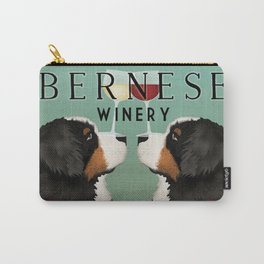 Bernese Mountain Dog Winery Carry-All Pouch