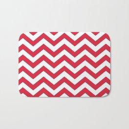 Red Chevron Pattern. Colorful zig zag stripe desig Bath Mat