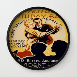 Vintage poster - The President's Birthday Ball Wall Clock