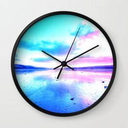 Bright Sunset Beach Wall Clock