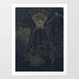The Cloak of Blinding Levitation Art Print
