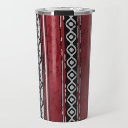 Red Arabian Pattern Travel Mug
