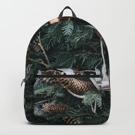 Christmas Ornaments On Trees Photography Backpack