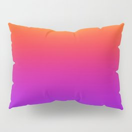 Colorful Gradient Pattern Neon Abstract Rainbow Pillow Sham
