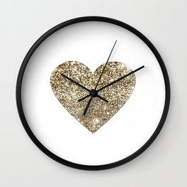 GOLD Heart-8 Wall Clock