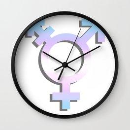 Transgender Symbol Wall Clock