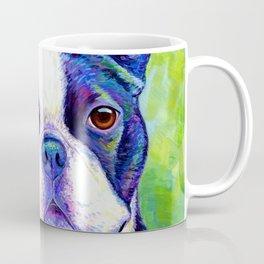 Colorful Boston Terrier Dog Coffee Mug