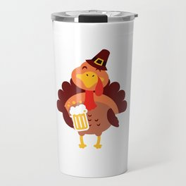 Time To Get Basted Beer Turkey Thanksgiving Travel Mug