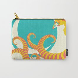 Retro design of flying space rocket Carry-All Pouch