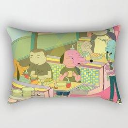 eating at johnny´s Rectangular Pillow