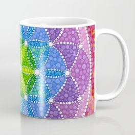 Rainbow Flower of Life Coffee Mug