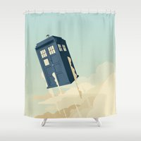 doctor Shower Curtains featuring Time to Fly by Danny Haas