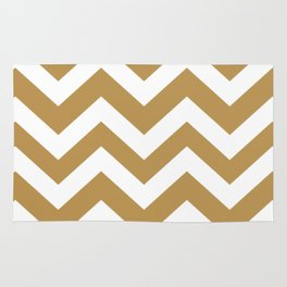 Maple syrup - brown color - Zigzag Chevron Pattern Rug