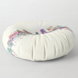 louisville kentucky skyline Floor Pillow
