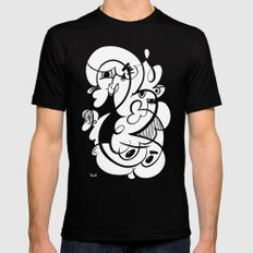 Doodle of the day V MEDIUM Black Mens Fitted Tee