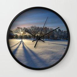 Snowy Sunrise in North Carolina Wall Clock