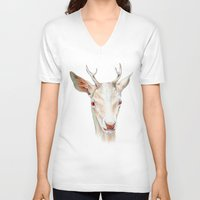 stag V-neck T-shirts featuring Stag by Brandon Keehner
