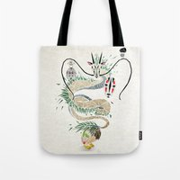 spirited away Tote Bags featuring spirited away by Manoou