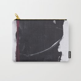 Red Mark, Black Abstract Carry-All Pouch