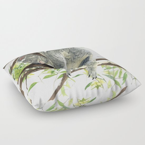 Animal Shaped Floor Pillows : Koala Floor Pillow by Patrizia Donaera ILLUSTRATIONS Society6