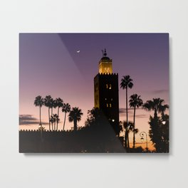 Koutoubia Moon - Marrakech Metal Print