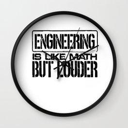 Engineer Gift Ideas Engineering Like Math But Louder Engineering Humor Wall Clock