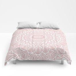 Light Rose Gold Mandala Minimal Minimalistic Comforters