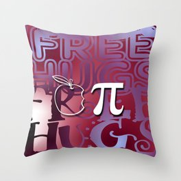 Apple Pie - Free Hugs and Kisses Throw Pillow