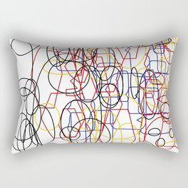 Geometric white ing Rectangular Pillow