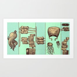 The Squid and The Capacitor Art Print