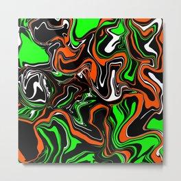 90s Blackout Slime Spill Metal Print