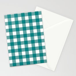 Gingham (Teal/White) Stationery Cards