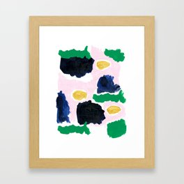 Imogen - painterly abstract palette colorful modern minimal painting boho dorm college hipster trend Framed Art Print
