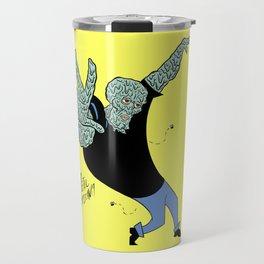 Handsome Squidward x Johnny Bravo Travel Mug