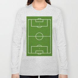 Football field fun design soccer field Long Sleeve T-shirt