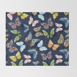 Butterfly Pattern 03 Throw Blanket