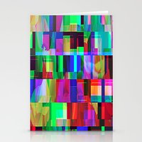 glitch Stationery Cards featuring GLITCH by C O R N E L L