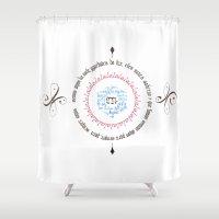 poem Shower Curtains featuring Mandala Poem & Music by Aoi Hikari Arts