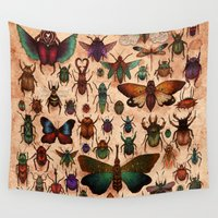 bugs Wall Tapestries featuring Love Bugs by Angela Rizza