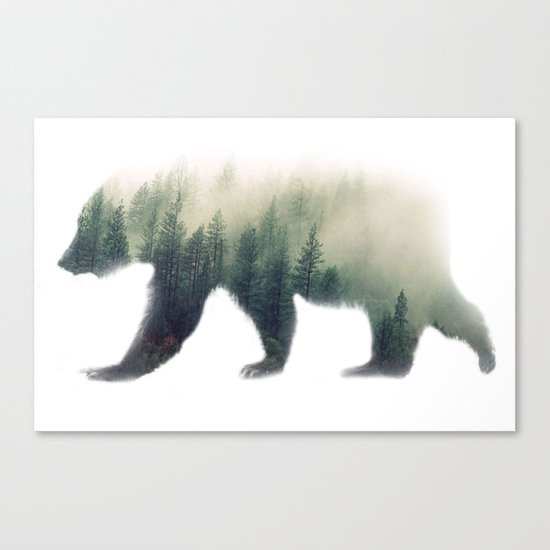 Grizzly Bear Dream Canvas Print