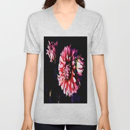 Red Magic Dahlia Unisex V-Neck