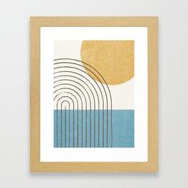 Sunny ocean Framed Art Print