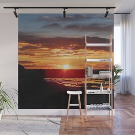Ground Level Sunset Wall Mural