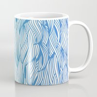 waves Mugs featuring Ombré Waves by Cat Coquillette