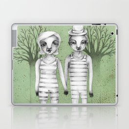 gymnast couple in the forest Laptop & iPad Skin