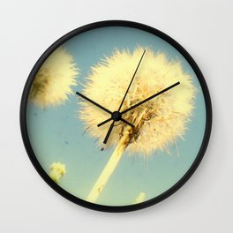 Summer Dandelions Wall Clock