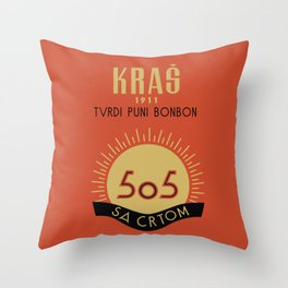 Glory to Yugoslavian design Throw Pillow