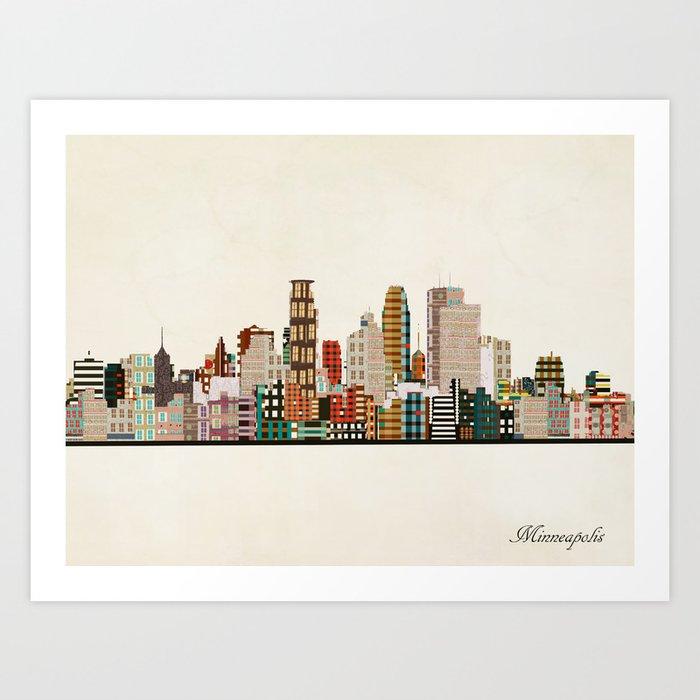 minneapolis skyline Kunstdrucke