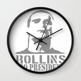 Rollins for President Wall Clock