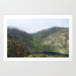 Wales Landscape 20 Cader Idris Mountain Lake Art Print